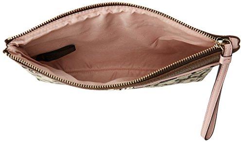Tous Elice New - Borsette da polso Donna, Multicolore (Marrón-rosa), 2x17.5x25.5 cm (W x H L)
