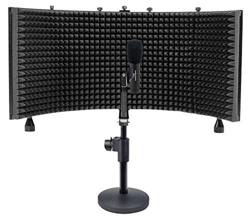 Audio Technica PRO37 Diaphragm Condenser Microphone PRO 37+Mic Stand+Iso Shield -
