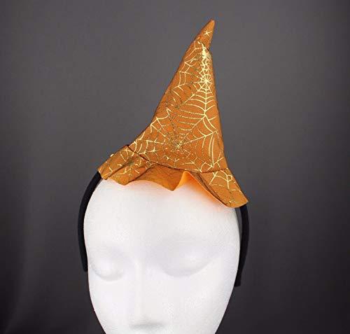 Orange Witch Hat Headband Halloween Thin Skinny Hair Band Silver Sparkle Girls Headbands For -