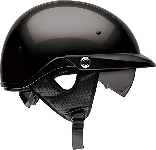 Bell Pit Boss Open-Face Motorcycle Helmet (Solid Black, Medium)