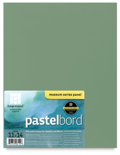 Ampersand Museum Series Pastelbord Single Sheet 16x20 - Deep Green by Ampersand