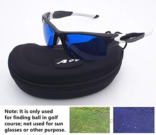 A99 Golf Ball Finder Glasses (Black White Frame) - Only Used in Golf Course