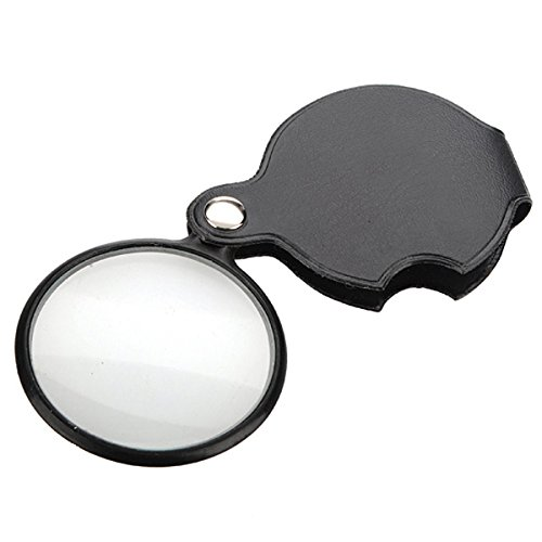 Jewelry And Watch - Black Pocket Jewelry Magnifier Magnifying Glass Loupe - 1PCs (Watch Jewelry Review)