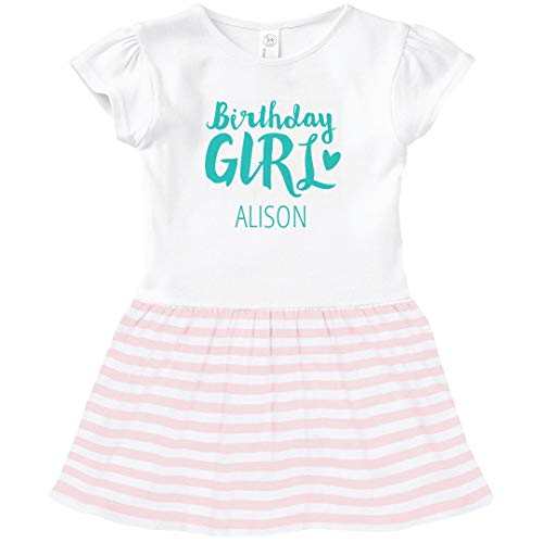 FUNNYSHIRTS.ORG Cute Birthday Girl Alison: Toddler Baby Rib Dress