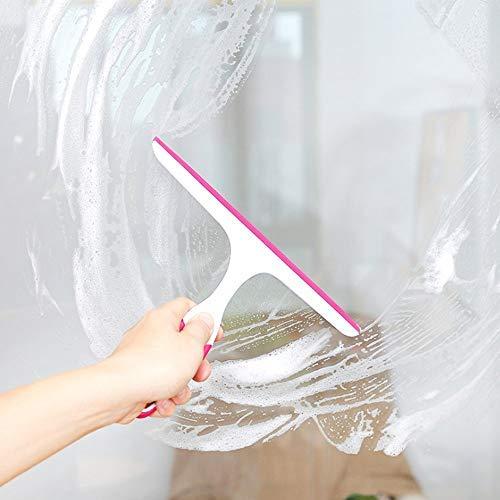 Squeegees Scraper Glass Window Soap Cleaner Wiper Squeegee Home Car Blade Bathroom Mirror Shower Pink