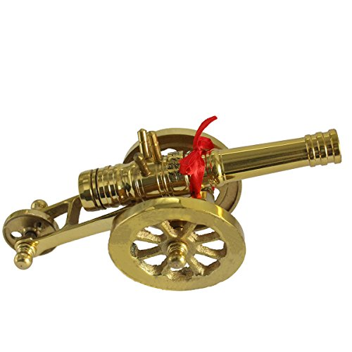 Guns Of History Antiqued Brass Artillery sturdy Barrel stunning details Home or Domestic - Artillery Brass