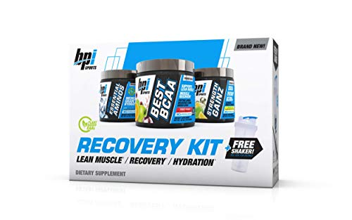 BPI Sports Recovery Kit an All in one Solution (Best BCAA, Strength Gainz, Clinical Essential Aminos, Free Shaker…