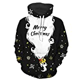 QBQCBB Mens Christmas Pullover Tops Hooded Sweatshirt Long Sleeve