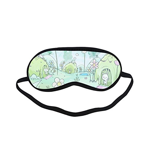 (Sleeping Mask Pumkins Cute Cartoon PTEM305 Blindfold Eye Travel Relax)
