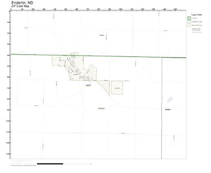 Nd Zip Code Map.Amazon Com Zip Code Wall Map Of Enderlin Nd Zip Code Map Laminated