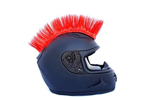 Red Motorcycle Mohawk Ski Snowboard Helmet Mohawk w/ Sticky Adhesive