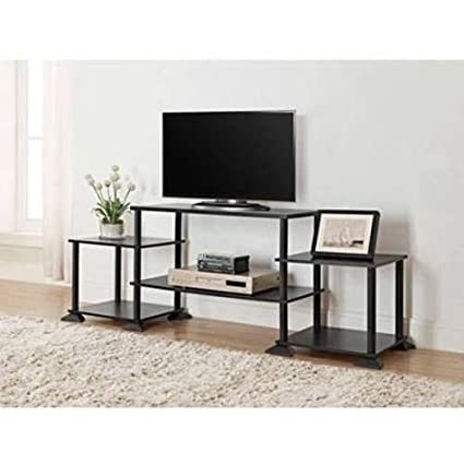 NEW TV Stand Entertainment Center Media Console Furniture Wood Storage  Cabinet (Black) By SM