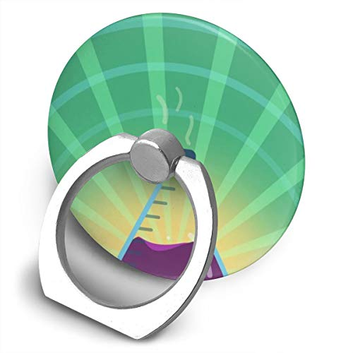 Markui Cell Phone Finger Ring Holder Chemistry Flask Lab 360 Degree Rotating Stand Grip Mount Phone Bracket -