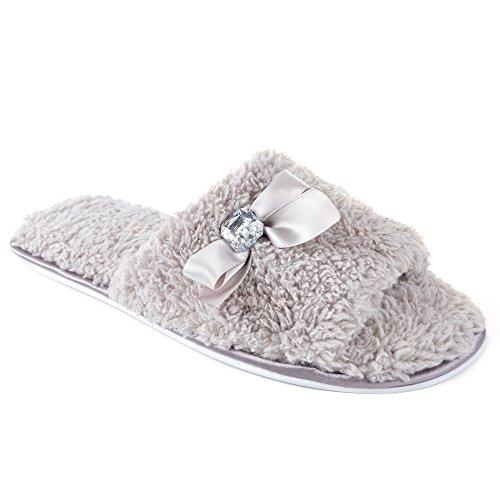 SlumberzzZ - Zapatos con tacón mujer beige/azul oscuro