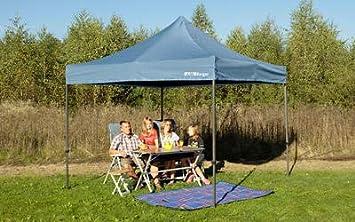 Berger Faltpavillon Pavillon Sonnenschutz Zelt Regenschutz Camping blau 2 Größen