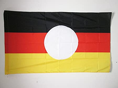 AZ FLAG Bandera de la REPÚBLICA DEMOCRÁTICA Alemana SIN Armas 150x90cm para Palo - Bandera RDA - DDR 90 x 150 cm: Amazon.es: Jardín