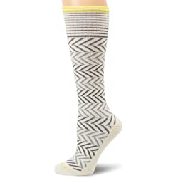 Sockwell Women's Chevron Graduated Compression Socks-Ideal for-Travel-Sports-Nurses-Pregnancy-Reduces Swelling, Natural, Medium/Large
