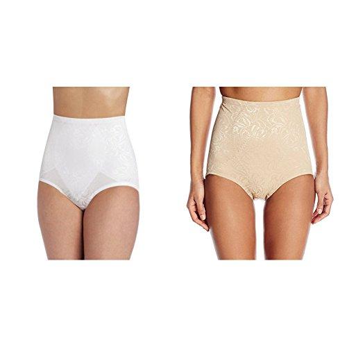 Maidenform Flexees Women's 2 Pack Shapewear Brief Firm Control, White/Body Beige, XX-Large ()