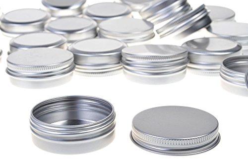 - BCP 20pcs 1 Ounce 30ml Aluminum Tin Screw Cap Round Storing Can Container