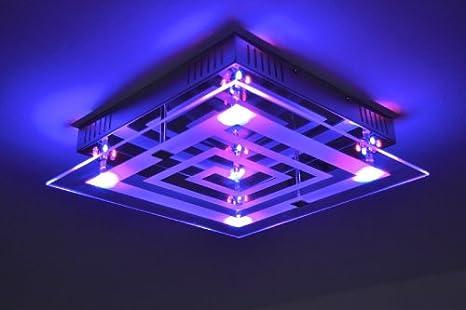 Plafonnier à LED avec variateur de couleurs et télécommande ...