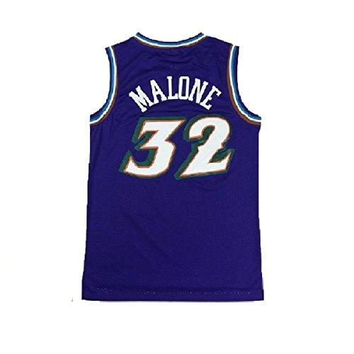 (maodege Men's Karl Jersey Utah 32 Basketball Jerseys Malone Jersey (XL, Blue))