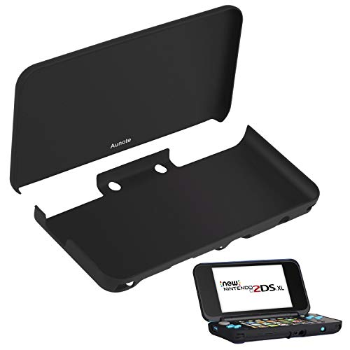 Aunote Nintendo 2DS XL Case, Protective Case for New Nintendo 2DS XL, Cover Shell Skin for Nintendo 2DS XL Handheld Games Console, for Boys 1 Sets Black