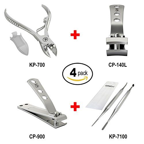 Bundle of 4 Items: KP-700 Thick Nail Clipper + CP-140L 4mm W