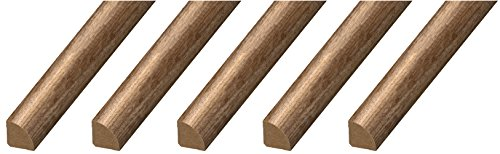 """Cal-Flor MD20005 Quarter Round x ¾"""" x 94"""" Floor Base Molding for Wood, Laminate, Wpc, Lvt and Vinyl, 5 Pack, Rustic, 5 Piece"""