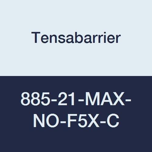 Plastic 2.5 Wide 13 Length Florescent Yellow Belt 38 Height Red 16 Length Tensabarrier 885-21-MAX-NO-F5X-C Post