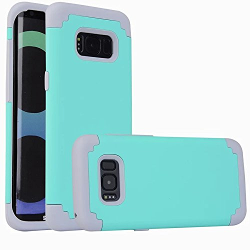 - For Galaxy S8 plus Case, iBarbe Protective Dual Layer 2 in 1 Reinforced Flexible Soft rubber Silicone + Hard Plastic PC Shock-Proof Bumper Scratch-Resistant Shell corver (tear/gray)