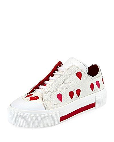 Alexander McQueen Tessu Rose Petal Platform Sneakers 41