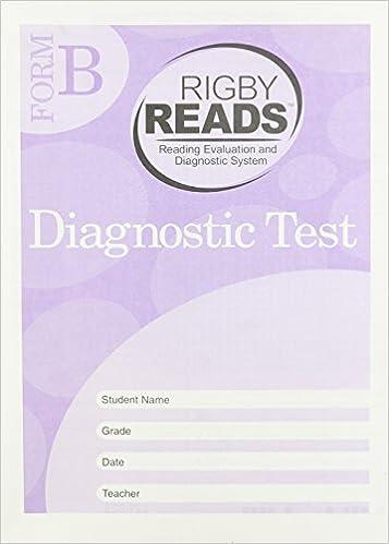 Free ebooks free pdf download Rigby READS: Diagnostic Test Grade 2 Form B ePub