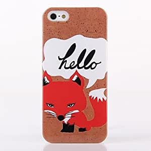 TY-Patrón Fox ABS nuevo caso para el iPhone 5/5S