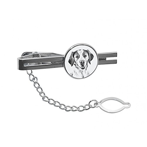 Brittany Spaniel, tie pin, Clip with an Image of a Dog, Elegant and Casual -