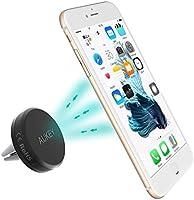 AUKEY Soporte Movil Coche Air Magnético Universal Soporte de Smartphone para Rejillas del Aire de Coche para iPhone 6s / 6 Plus, Samsung Galaxy S6 / Note 4 / LG G3 y Dispositivo GPS ( Negro )