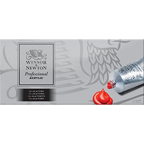 Winsor & Newton Artists' Acrylic Color 12-Tube Set, 20ml