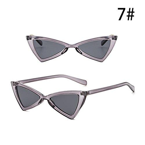 Accesorios Gafas de Moda de UV Retro Gafas Mujeres Personalidad Exterior G de Triángulo la G de Sol Vintage ZHANGYUSEN Anti aw0qzBx