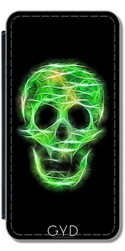 Leder Flip Case Tasche Hülle für Apple Iphone 7 Plus / 8 Plus - Grün Glitzernden Toten by UtArt