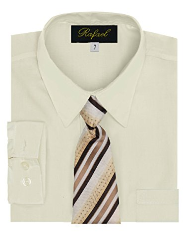ivory dress shirt and tie - 1