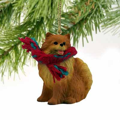 1 X Pomeranian Miniature Dog Ornament - Red by Conversation Concepts