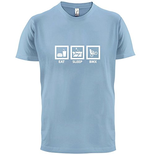 Eat Sleep BMX - Herren T-Shirt - Himmelblau - S