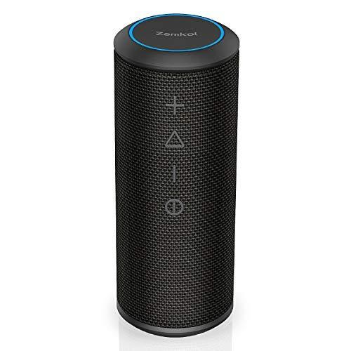 Bluetooth Speaker, Zamkol Bluetooth Speakers Portable Wireless, 360 Degree Sound and 24W Enhanced X-Bass, Dual Pairing Loud Wireless Speaker, IPX6 Waterproof for Beach, Shower, Travel, Party (Speakers Bluetooth Music)