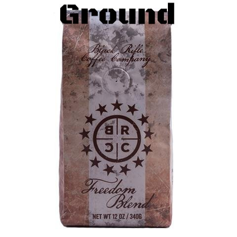 Black Coffee Blend - Black Rifle Coffee Company Ground Coffee 2-12oz Bags (Freedom Blend Ground Coffee)