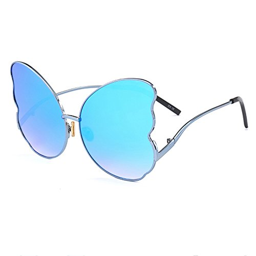 Butterfly Eye Street Gray Polygon Lady Sunglasses Butterfly Douerye Blue Sun qnFTv7Hx