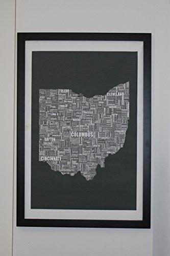 Ohio Type Map Canvas 24 x 36 Poster