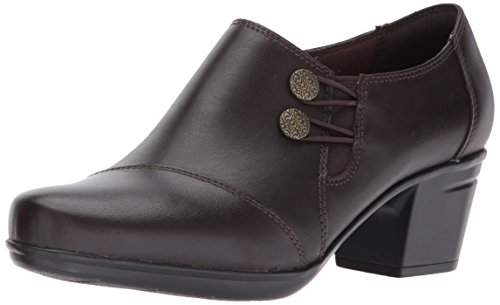 Clarks Women's Emslie Warren Slip-on Loafer,Dark Brown,8.5 M US