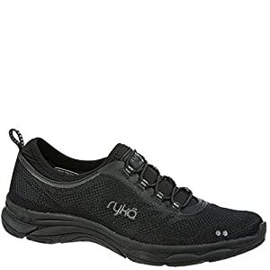 RYKA Women's Fierce Walking-Shoes, Black/Grey, 8 M US