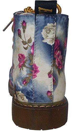 Canvas Fashciaga Boot Floral Women's Blue SFFR6Txqgw