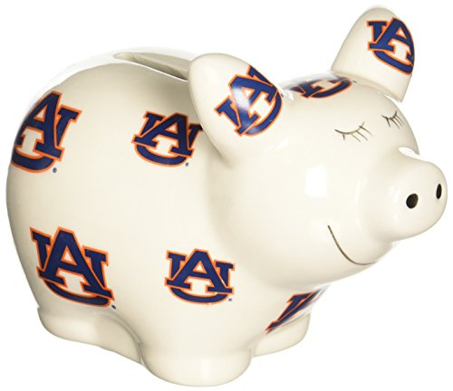- NCAA Auburn Tigers Piggy Bank with All Over Logo