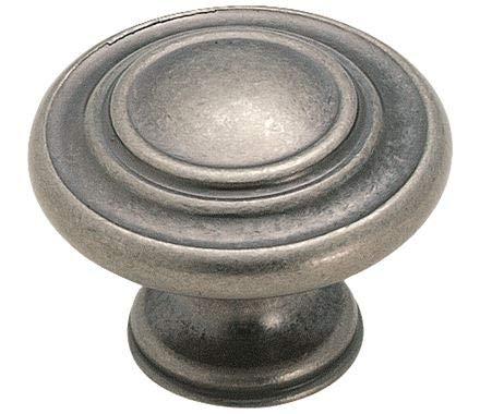 Sonoma Cabinet Hardware Nantucket Knob Antique Pewter NEW Kitchen Custom Solid Knob ()